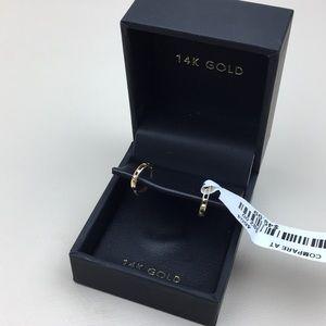 14K Gold Dainty Small Hoop Earrings NWT